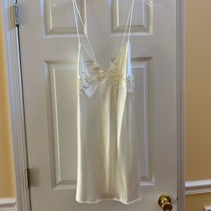 Victoria's Secret Sequins & Lace Ivory Slip (L)